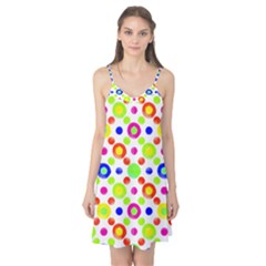 Multicolored Circles Motif Pattern Camis Nightgown