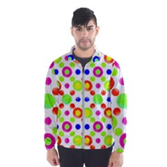 Multicolored Circles Motif Pattern Wind Breaker (men)
