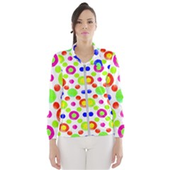 Multicolored Circles Motif Pattern Wind Breaker (women)