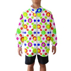 Multicolored Circles Motif Pattern Wind Breaker (kids)