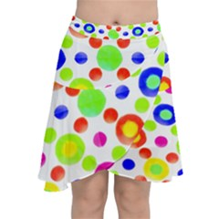 Multicolored Circles Motif Pattern Chiffon Wrap