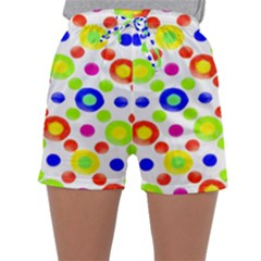 Multicolored Circles Motif Pattern Sleepwear Shorts