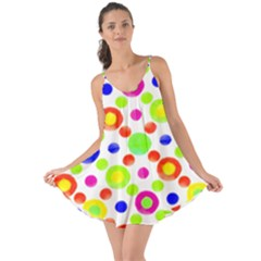 Multicolored Circles Motif Pattern Love The Sun Cover Up