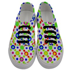 Multicolored Circles Motif Pattern Men s Classic Low Top Sneakers