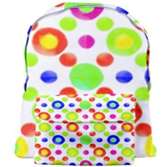 Multicolored Circles Motif Pattern Giant Full Print Backpack