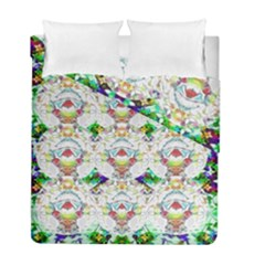 Nine Little Cartoon Dogs In The Green Grass Duvet Cover Double Side (full/ Double Size)