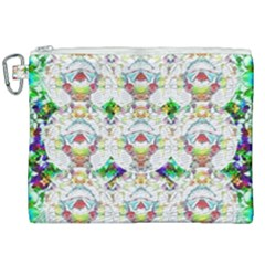 Nine Little Cartoon Dogs In The Green Grass Canvas Cosmetic Bag (xxl)