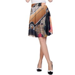 Out In The City A Line Skirt