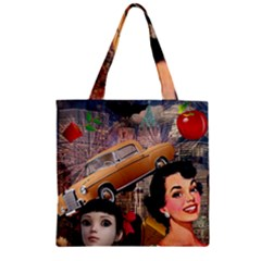 Out In The City Zipper Grocery Tote Bag