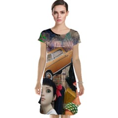 Out In The City Cap Sleeve Nightdress