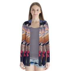 Out In The City Drape Collar Cardigan