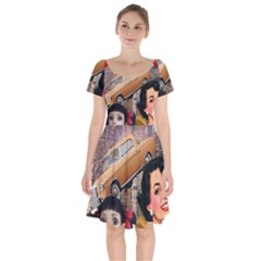 Out In The City Short Sleeve Bardot Dress