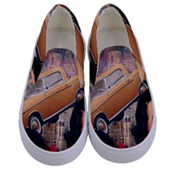 Out In The City Kids  Canvas Slip Ons