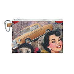 Out In The City Canvas Cosmetic Bag (medium)