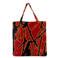 Vivid Abstract Grunge Texture Grocery Tote Bag