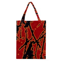 Vivid Abstract Grunge Texture Classic Tote Bag