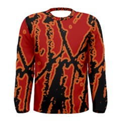 Vivid Abstract Grunge Texture Men s Long Sleeve Tee