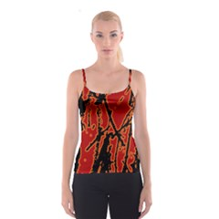 Vivid Abstract Grunge Texture Spaghetti Strap Top