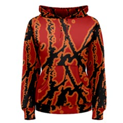 Vivid Abstract Grunge Texture Women s Pullover Hoodie