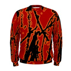Vivid Abstract Grunge Texture Men s Sweatshirt