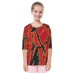 Vivid Abstract Grunge Texture Kids  Quarter Sleeve Raglan Tee