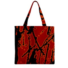 Vivid Abstract Grunge Texture Zipper Grocery Tote Bag