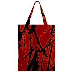 Vivid Abstract Grunge Texture Zipper Classic Tote Bag