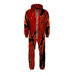 Vivid Abstract Grunge Texture Hooded Jumpsuit (kids)