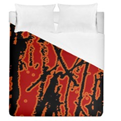 Vivid Abstract Grunge Texture Duvet Cover (queen Size)
