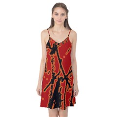 Vivid Abstract Grunge Texture Camis Nightgown
