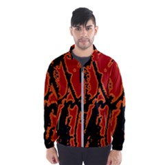 Vivid Abstract Grunge Texture Wind Breaker (men)