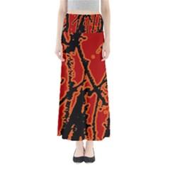 Vivid Abstract Grunge Texture Full Length Maxi Skirt
