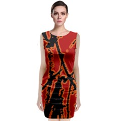 Vivid Abstract Grunge Texture Classic Sleeveless Midi Dress