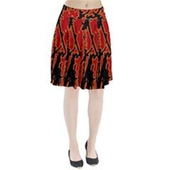 Vivid Abstract Grunge Texture Pleated Skirt
