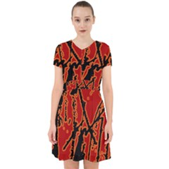 Vivid Abstract Grunge Texture Adorable In Chiffon Dress