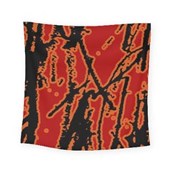 Vivid Abstract Grunge Texture Square Tapestry (small)