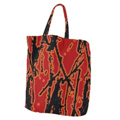 Vivid Abstract Grunge Texture Giant Grocery Zipper Tote