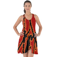 Vivid Abstract Grunge Texture Show Some Back Chiffon Dress