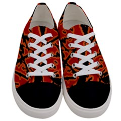 Vivid Abstract Grunge Texture Women s Low Top Canvas Sneakers