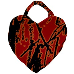 Vivid Abstract Grunge Texture Giant Heart Shaped Tote