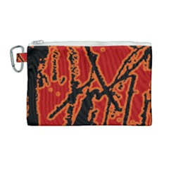 Vivid Abstract Grunge Texture Canvas Cosmetic Bag (large)
