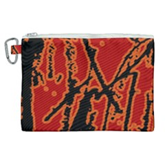 Vivid Abstract Grunge Texture Canvas Cosmetic Bag (xl)