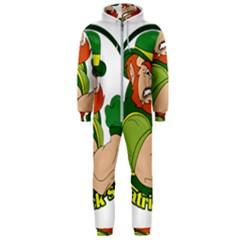 St  Patricks Day Hooded Jumpsuit (men)