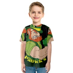 St  Patricks Day Kids  Sport Mesh Tee