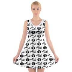 Custom V Neck Sleeveless Dress   Miss T