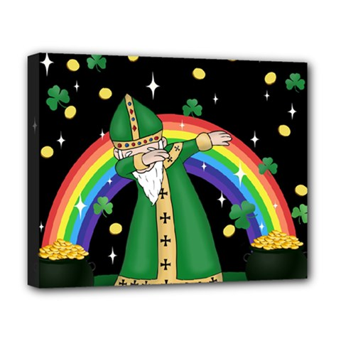 St  Patrick  Dabbing Deluxe Canvas 20  X 16