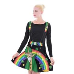 St  Patrick  Dabbing Suspender Skater Skirt