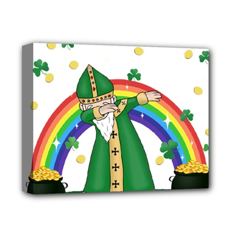 St  Patrick  Dabbing Deluxe Canvas 14  X 11