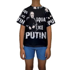 Squat Like Putin Kids  Short Sleeve Swimwear