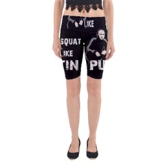 Squat Like Putin Yoga Cropped Leggings